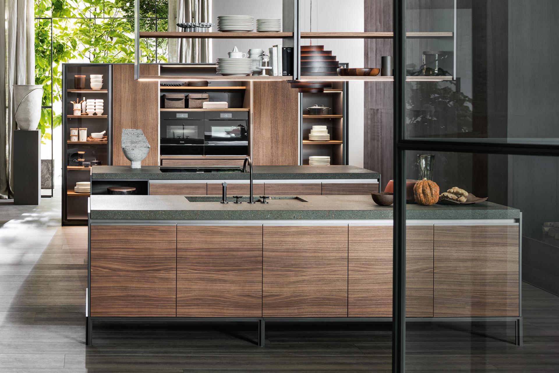 Una cucina senza maniglie - Bruno interni