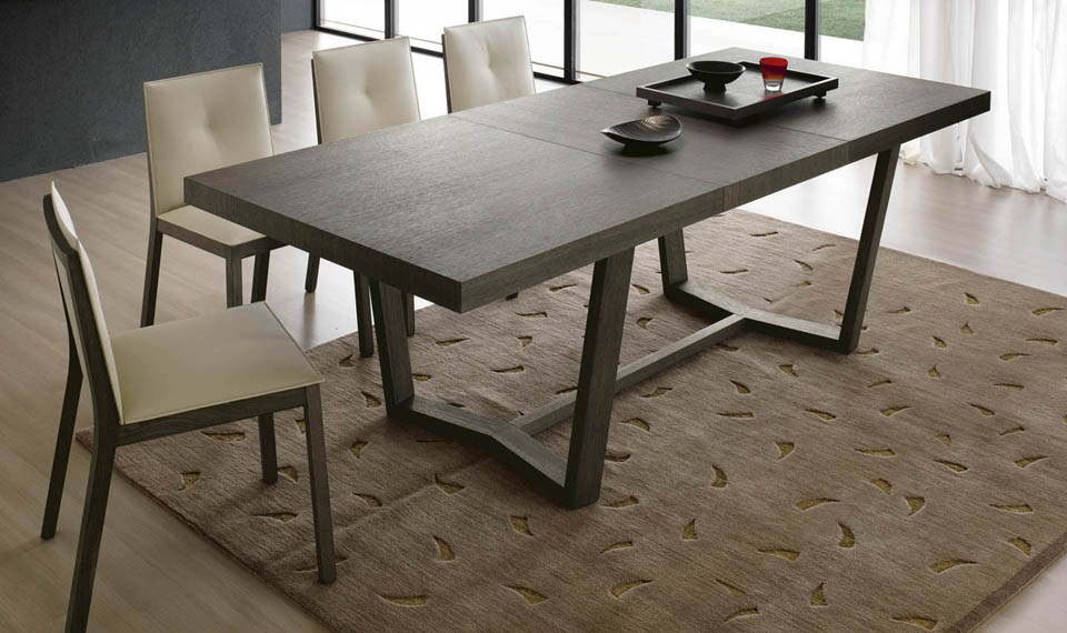Tavolo Industriale Quadrato : Bruno interni tavolo allungabile cartesio collezione alf da fre