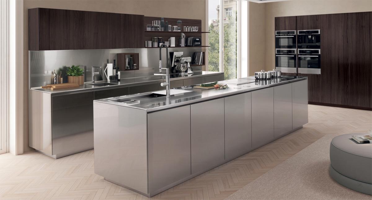 Bruno Interni - Cucina Free Steel Aisi304 collezione Euromobil