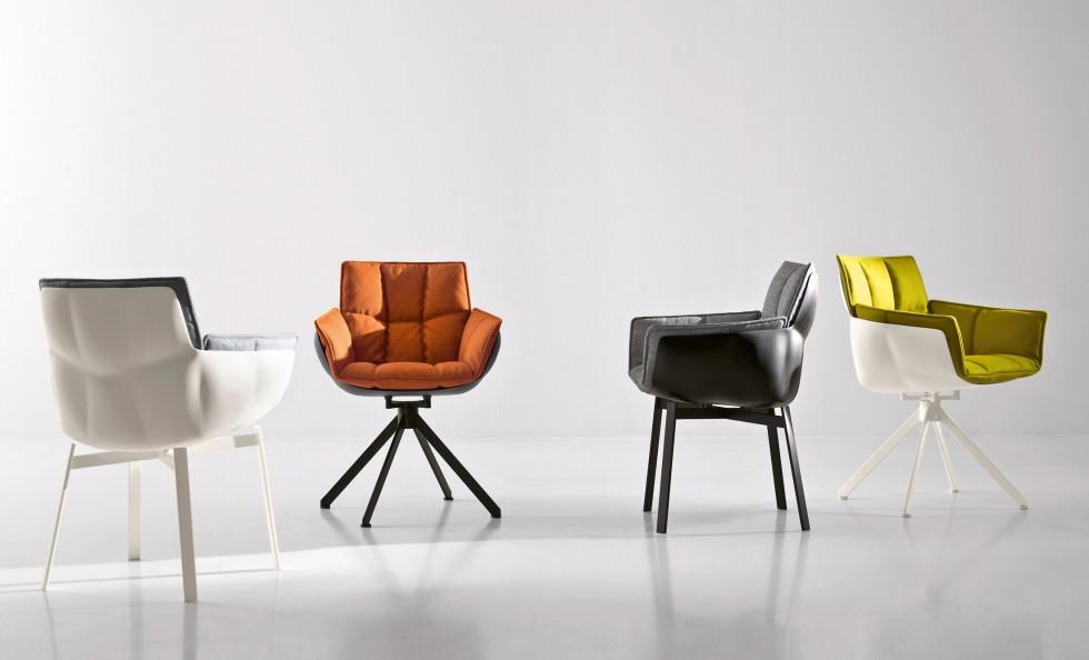 Sedia in cuoio moderna alice di bontempi arredo design sedia